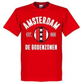Amsterdam Established Tee - Red