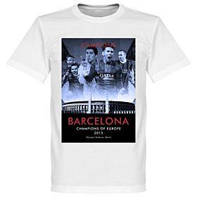 2015 Barcelona European Champions T-shirt - White