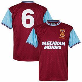 1994 West Ham United Home Retro Shirt + No. 6