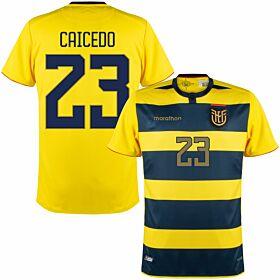 2021 Ecuador Copa America Home Shirt + Caicedo 23 (Fan Style Printing)