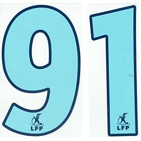 03-04 Olympique Marseille Home 200mm Official LFP Numbers