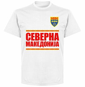 North Macedonia Team T-shirt - White
