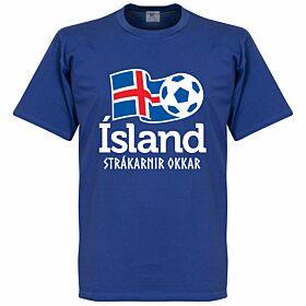 Iceland National Tee - Blue