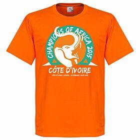 2015 Ivory Coast Champions of Africa Tee 2 - Orange