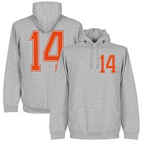 Holland No. 14 Retro Hoodie - Grey