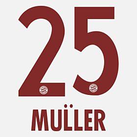 Müller 25 - Bayern Munich Away KIDS 2014 / 2015 Official Name & Number