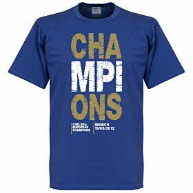 2012 Chelsea Champions Tee - Blue