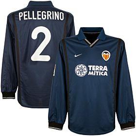 00-01 Valencia Away L/S Jersey + Pellegrino No. 2 - Players