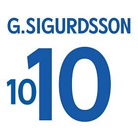 Sigurdsson 10 - Iceland Away Official Name & Number 2016 / 2017