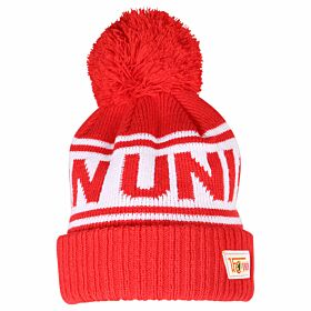 FC Union Berlin Pom Knitted Hat - Red/White