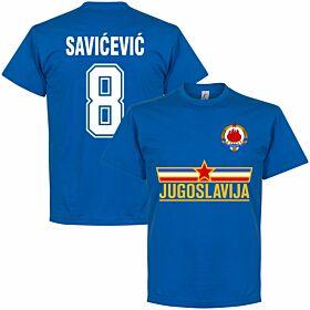 Yugoslavia Savicevic Team Tee - Royal