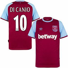 20-21 West Ham Home Shirt + Di Canio 10 (Retro Flex Printing)