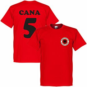 Albania Badge Cana 5 Tee - Red