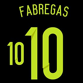 Fabregas 10 - Spain Away Official Name & Number 2014 / 2015