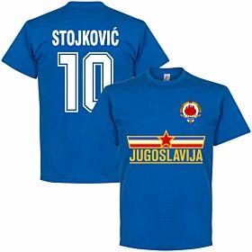 Yugoslavia Stojkovic Team Tee - Royal