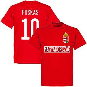 Hungary Puskas 10 Team T-Shirt - Red