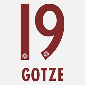Götze 19 - Bayern Munich Away KIDS 2014 / 2015 Official Name & Number