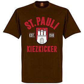 St Pauli Established Tee - Brown