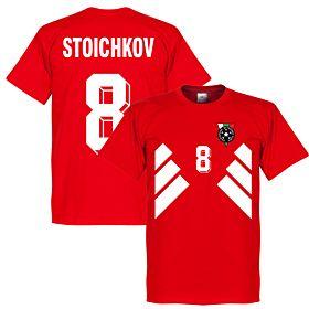 Bulgaria Stoichkov 8 Retro Tee - Red