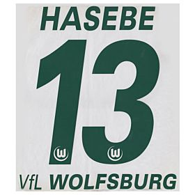 Hasebe 13 - 10-11 VfL Wolfsburg Home Official Name & Number