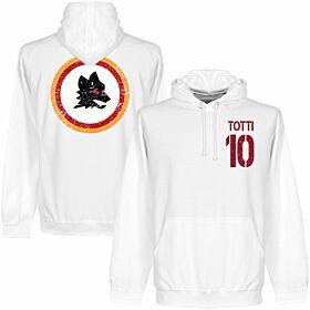 Roma Totti No.10 Hoodie - White
