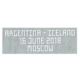Argentina - Iceland FIFA World Cup 2018 Matchday Transfer 16 June 2018