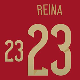 Reina 23 - Spain Home Official Name & Number 2014 / 2015