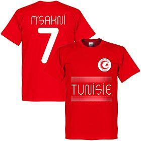 Tunisia Msakni 7 Team Tee - Red