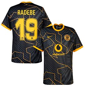 21-22 Kaizer Chiefs Away Shirt + Radebe 19 (Fan Style)