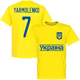 Ukraine Yarmolenko 7 2020 Team T-Shirt - Yellow