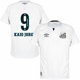 20-21 Club Santos Home Shirt + Kaio Jorge 9 (Fan Style Printing)