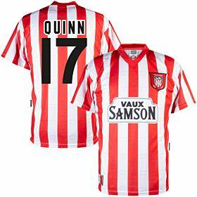 1997 Sunderland Home Retro Shirt + Quinn 17 (Retro Flock Printing)