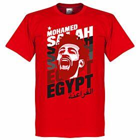 Salah Egypt Portrait Tee - Red