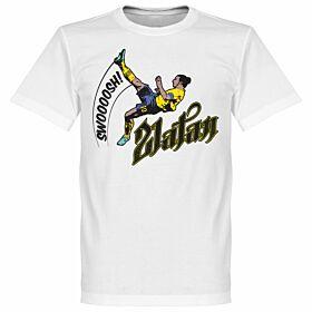 Zlatan Ibrahimovic Bicycle Kick Tee - White