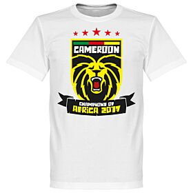 Cameroon Africa Cup of Nations 2017 Winners Tee - White