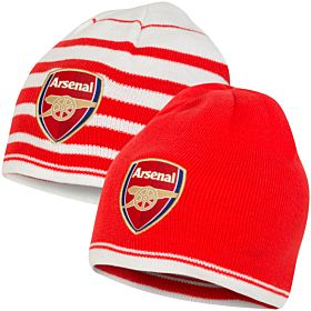 Arsenal Reversible Beanie - Red/White
