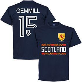 Scotland Retro '78 Gemmill 15 Team Tee - Navy