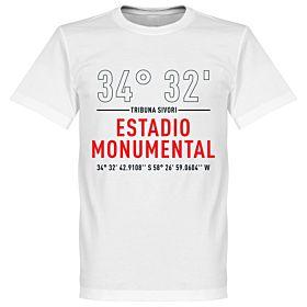 River Plate Home Coordinates Tee - White
