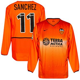 Nike Valencia CF 2002-2003 Away Jersey L/S - NEW Condition (w/tags) - Player Issue - SANCHEZ #11 - Size Large