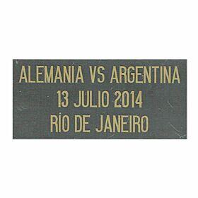 Alemania vs Argentina 13 Julio 2014 Rio De Janeiro Argentina Away Jersey Final Transfer