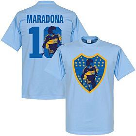 Maradona 10 Boca Crest Tee - Sky