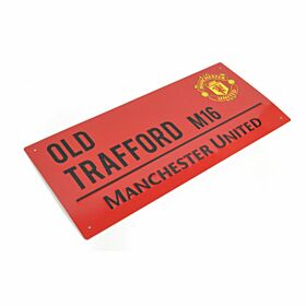 Manchester United Color Street Sign - Red/Black (40cm x 18cm)