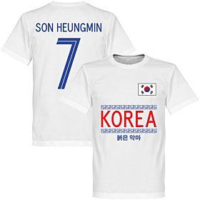 Korea Son Heungmin 7 Team Tee - White