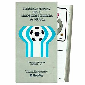 1978 World Cup Finals Official Souvenir Program - Argentinian Edition