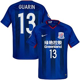 2018 Shanghai Shenhua Home Guarin 13 Jersey + AFC Champions League Patch (Official Printing)