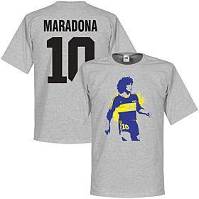 Boca Maradona No. 10 Tee - Grey