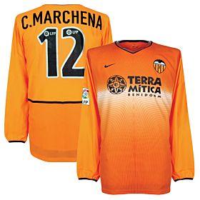 02-03 Valencia Away LFP L/S Jersey + Marchena No. 12- Players