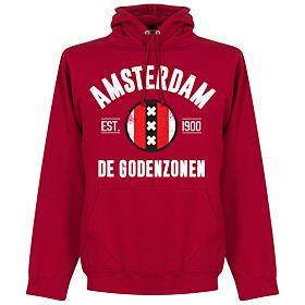 Amsterdam Established Hoodie - Red