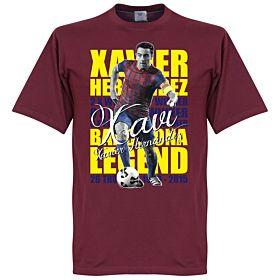 Xavi Hernandez Legend Tee - Maroon