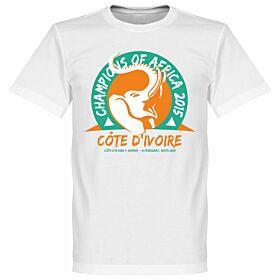 2015 Ivory Coast Champions of Africa Tee 2 - White